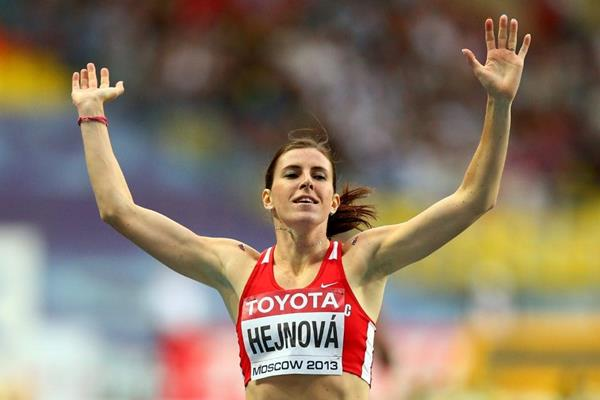 Zuzana Hejnova in the womens 400m Hurdles at the IAAF World Athletics Championships Moscow 2013 (Getty Images)