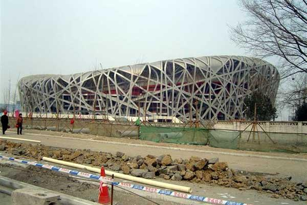 Olympic Stadium Beijing - The Bird's Nest - construction as at Jan 2008 (IAAF)