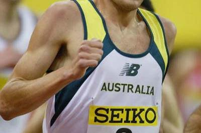Craig Mottram of Australia in action in the men's 3000m (Getty Images)
