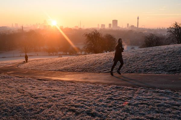 A runner on Primrose Hill in London (Getty Images)