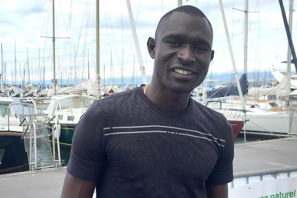 David Rudisha ahead of the 2015 IAAF Diamond League meeting in Lausanne (Olaf Brockmann)