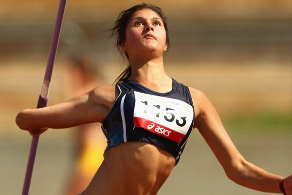 Monique Cilione improves to 52.16m to punch her ticket to Lille (Getty Images)