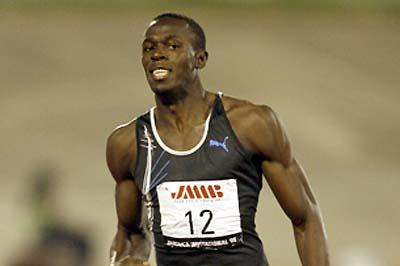 Usain Bolt (JAM) - another fast win - Kingston (Errol Anderson - The Sporting Image)