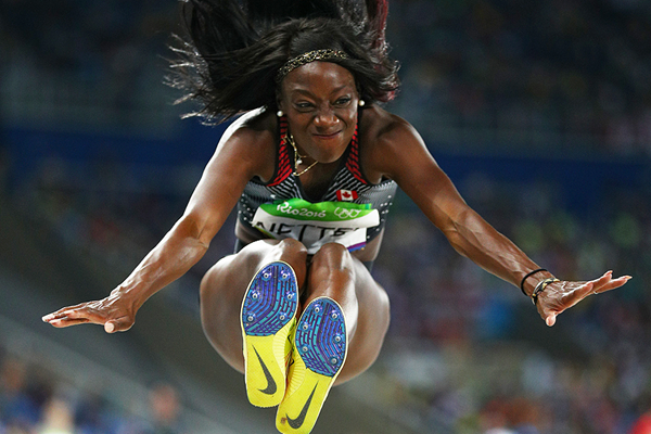 Christabel Nettey in the long jump at the Rio 2016 Olympic Games (Getty Images)