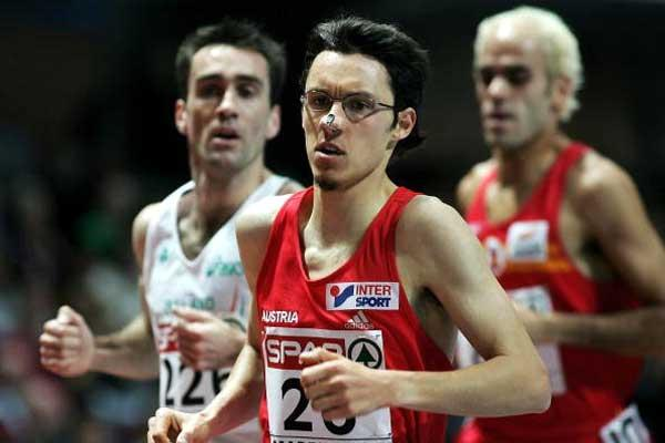 Austria's Günther Weidlinger ahead of Mark Carroll (l) and Reyes Estevez (r) - Madrid 3000m (Getty Images)
