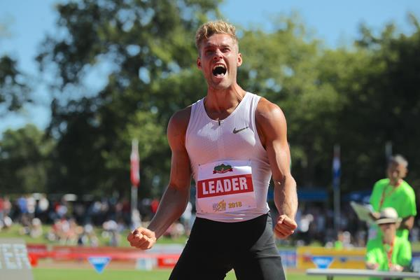 Kevin Mayer after the decathlon long jump at the Decastar meeting in Talence (Jean-Pierre Durand)