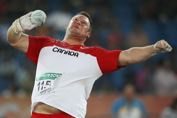 Canada's Dylan Armstrong takes the Commonwealth Shot Put title (Getty Images)
