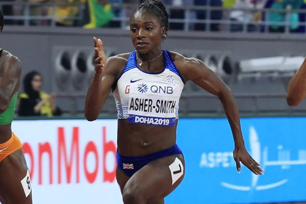 Dina Asher-Smith in the 100m final in Doha (Getty Images)
