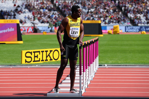 Ronald Levy in the 110m hurdles at the IAAF World Championships London 2017 (Getty Images)