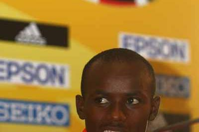 Samuel Wanjiru of Kenya during the Press Conference (Getty Images)