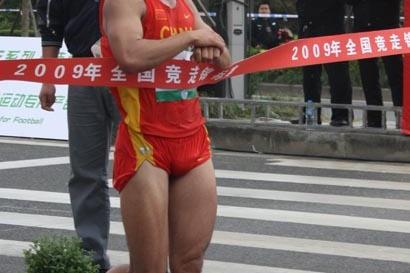 Zhao Chengliang wins the 50km in Wuxi (Chinese Federation)