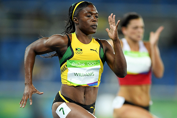 Christania Williams in the 100m at the Rio 2016 Olympic Games (Getty Images)