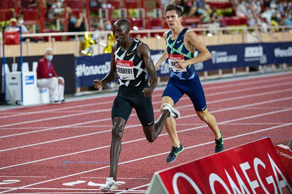 Timothy Cheruiyot wins the 1500m at the Diamond League meeting in Monaco (Philippe Fitte)