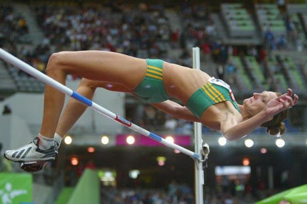 Hestrie Cloete of South Africa qualifies for the high jump final (Getty Images)