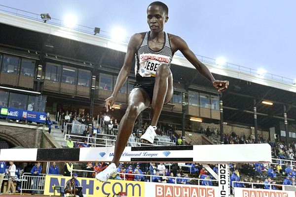 Ruth Jebet in the 3000m steeplechase at the IAAF Diamond League meeting in Stockholm (AFP / Getty Images)