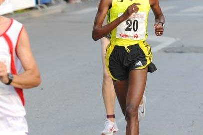 Lucia Kimani (BiH) running in Brcko, Bosnia and Herzegovina (Organisers)
