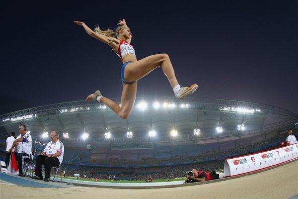 Darya Klishina in Daegu (Getty Images)