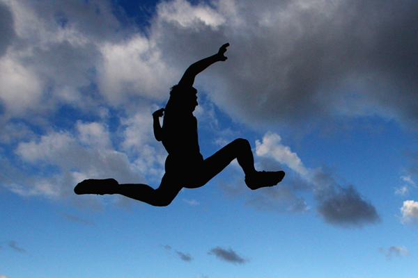 Long jumper in action (Getty Images)