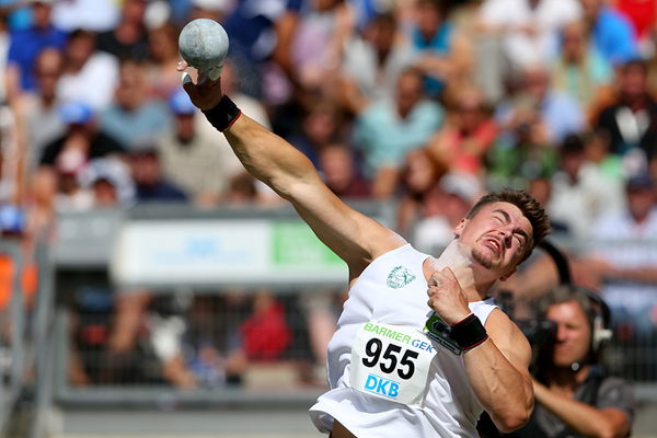 David Storl wins the German shot put title (Getty Images)