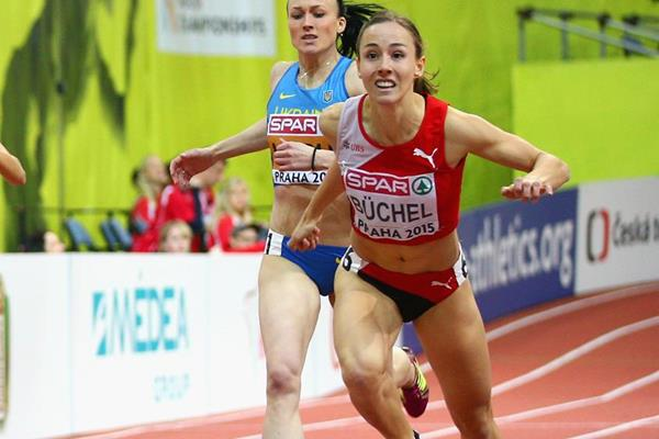 Selina Buchel wins the European indoor 800m title (Getty Images)
