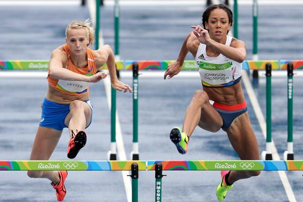 Anouk Vetter (l) and Katarina Johnson-Thompson in Rio (Getty Images)