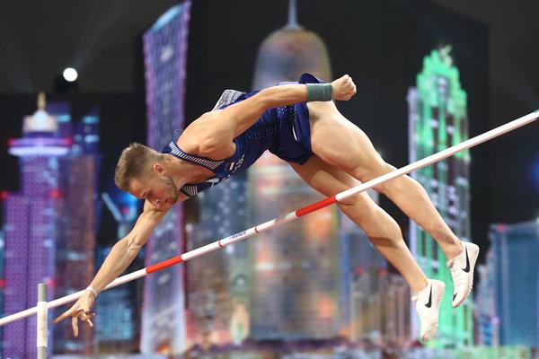 Janek Oiglane in the decathlon pole vault at the IAAF World Athletics Championships Doha 2019 (Getty Images)