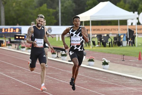 Wesley Vasquez and Donavan Brazier in the Szekesfehervar 600m (Organisers)