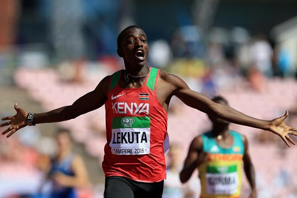 Solomon Lekuta takes 800m gold for Kenya at the IAAF World U20 Championships Tampere 2018 (Getty Images)