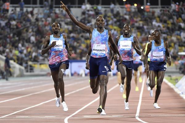 Elijah Manangoi winning in Doha (Hasse Sjogren/Jiro Mochizuki)