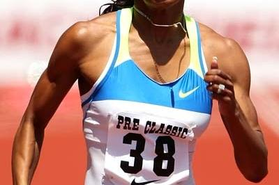 Sanya Richards winning 400m in Eugene (Getty Images)