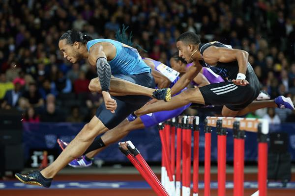 Pascal Martinot-Lagarde leads the 110m hurdles (Getty Images)