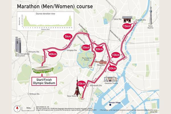 Tokyo 2020 marathon course (Tokyo 2020)