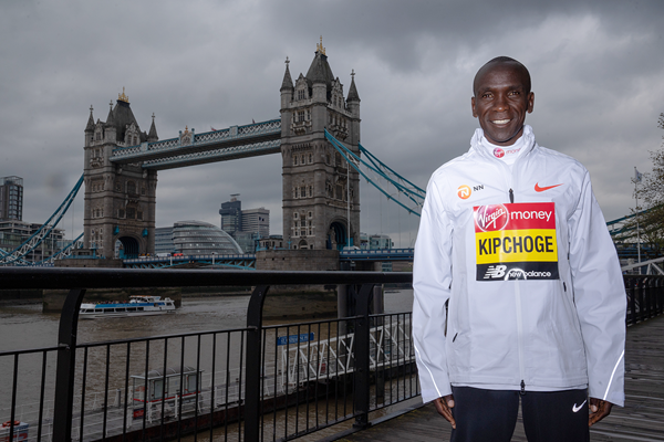 Eliud Kipchoge ahead of the 2019 London Marathon (Bob Martin / organisers)