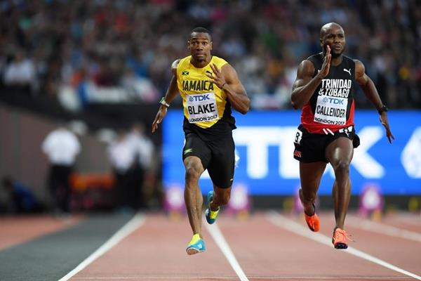 Yohan Blake in the 100m at the IAAF World Championships London 2017 (Getty Images)