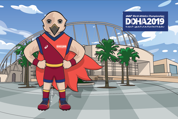 Falah, official mascot of the IAAF World Athletics Championships Doha 2019 (LOC)