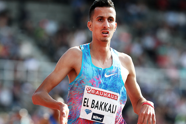 Soufiane El Bakkali wins the steeplechase at the IAAF Diamond League meeting in Stockholm (Giancarlo Colombo)
