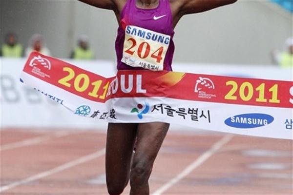 Ethiopian Robe Guta takes the Seoul International Marathon title in 2:26:51 (organisers)
