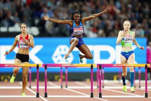 Shamier Little in the 400m hurdles heats at the IAAF World Championships London 2017 (Getty Images)