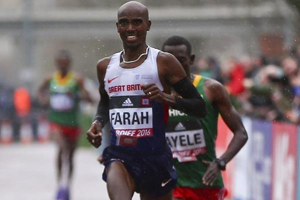 Mo Farah finishes third at the IAAF/Cardiff University World Half Marathon Championships Cardiff 2016 (Getty Images)