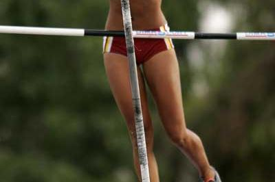 Keisa Monterola of Venezuela in action during the Girls' Pole Vault at the World Youth Championships (Getty Images)