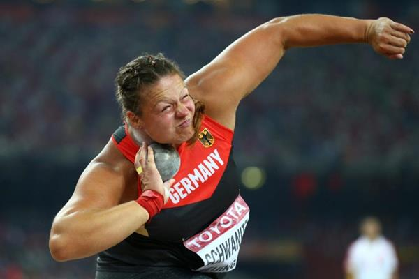 Christina Schwanitz in the shot at the IAAF World Championships, Beijing 2015 (Getty Images)