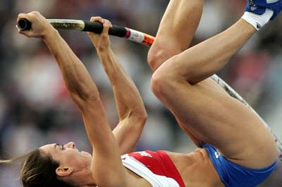Yelena Isinbayeva of Russia in the Pole Vault final (Getty Images)
