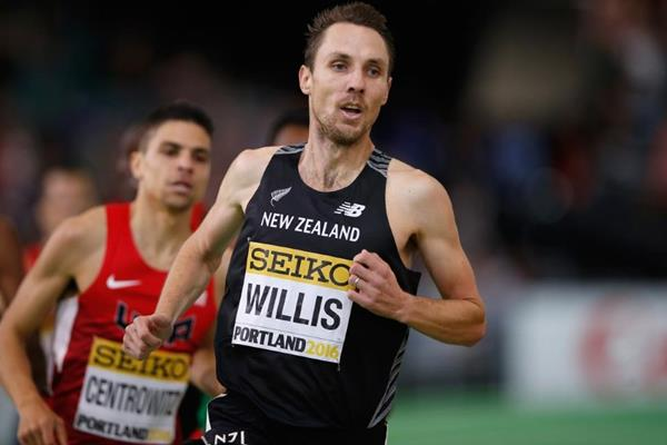 Nick Willis in the 1500m at the IAAF World Indoor Championships Portland 2016 (Getty Images)