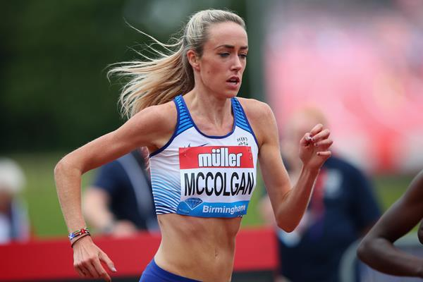Eilish McColgan in the 2017 IAAF Diamond League in Birmingham (Getty Images)