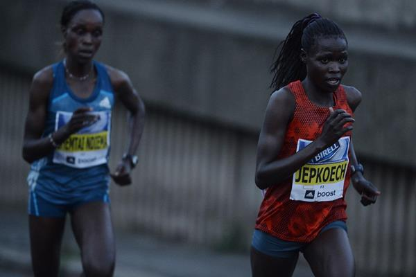 Correti Jepkoech at the 2014 Birell Prague Grand Prix 10k  (organisers)