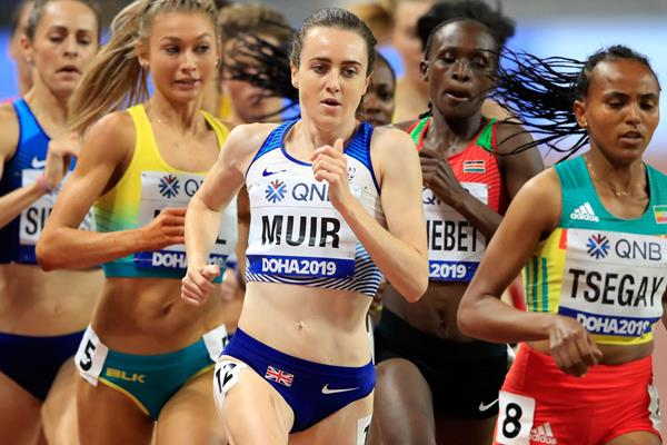 Laura Muir at the IAAF World Athletics Championships Doha 2019 (Getty Images)