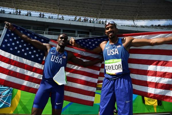 Will Claye and Christian Taylor after the triple jump at the Rio 2016 Olympic Games (Getty Images)