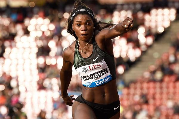 Caterine Ibarguen in the triple jump at the IAAF Diamond League final in Zurich (Mark Shearman)