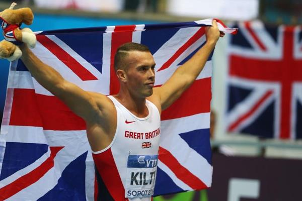 60m winner Richard Kilty at the 2014 IAAF World Indoor Championships in Sopot (Getty Images)