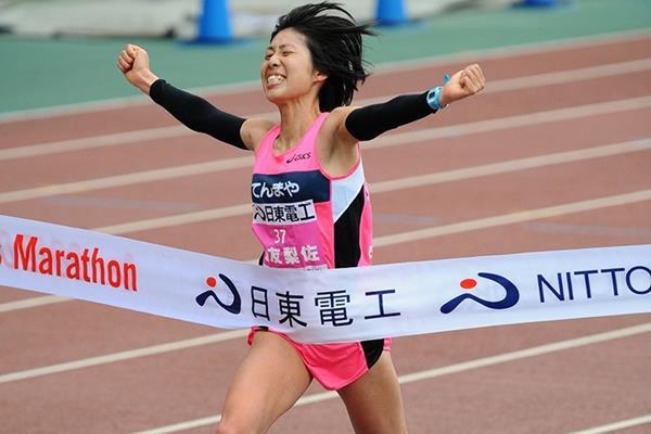 Risa Shigetomo takes a surprise victory in Osaka (Kazuo Tanaka/Agence SHOT)